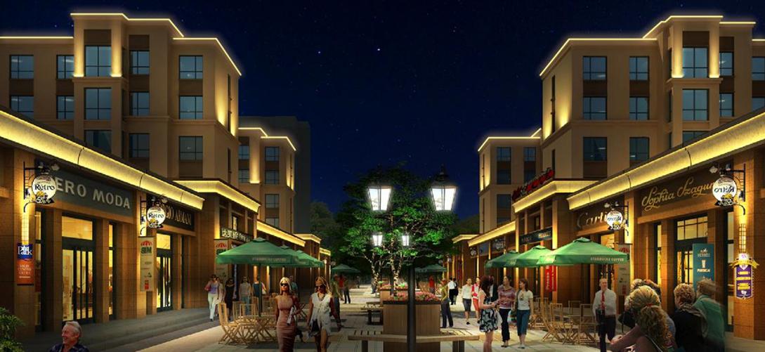 大同县公共租赁住房及棚户区公租房建设项目户外洗墙灯工程